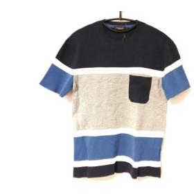 【中古】 ブラックレーベルクレストブリッジ 半袖セーター サイズS メンズ ネイビー グレー マルチ