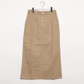 スタイルブロック STYLEBLOCK 綿ツイルミリタリースカート (ベージュ)