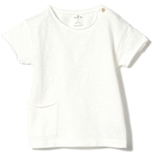 PLAY UP / ベビー ポケット ショートスリーブ Tシャツ 19 (1~2才) キッズ Tシャツ WHITE 12m