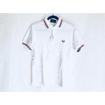 【中古】 フレッドペリー FRED PERRY 半袖ポロシャツ メンズ 白 黒 レッド