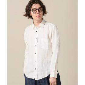 B.C STOCK リネンパナマレギュラーシャツ ホワイト S