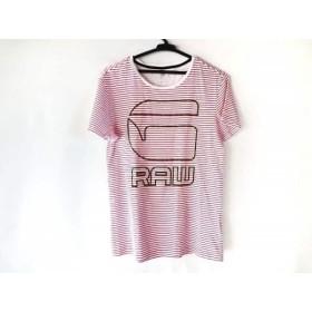 【中古】 ジースターロゥ G-STAR RAW 半袖Tシャツ サイズS メンズ 白 レッド グリーン ボーダー