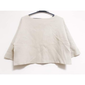【中古】 スナイデル snidel 七分袖セーター サイズF レディース 美品 アイボリー ショート丈