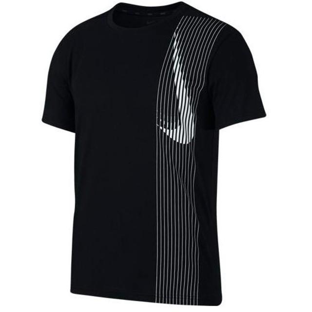 ナイキ(NIKE) メンズ トレーニングウェア ドライフィット S/S LV トップ ブラック/ブラック/ホワイト AQ0444 010 半袖 Tシャツ ティーシャツ スポーツウェア