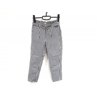 【中古】 グレースコンチネンタル GRACE CONTINENTAL パンツ サイズ36 S レディース 黒 白 チェック柄