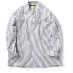 【SHIPS:トップス】BENCH MARKING SHIRTS: オープンカラー ストライプ シャツ