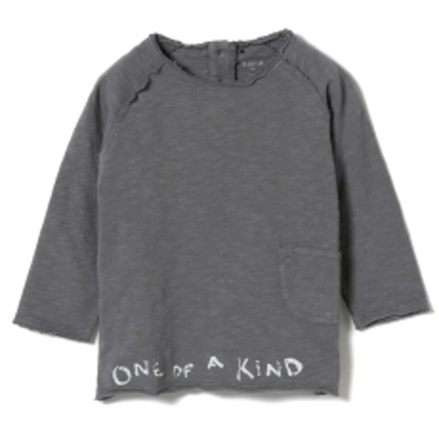 PLAY UP / ベビー ポケット ロングスリーブ Tシャツ 19 (1~2才) キッズ Tシャツ CHARCOAL.G 2y