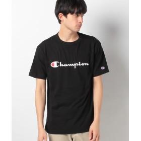 【25%OFF】 ウィゴー WEGO/ChampionロゴプリントTシャツ ユニセックス ブラック L 【WEGO】 【タイムセール開催中】