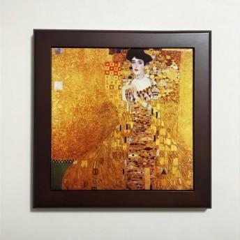 クリムト アデーレ・ブロッホ=バウアーの肖像1 フォトタイル木製フレーム付き
