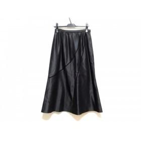 【中古】 レリアン Leilian ロングスカート サイズ 11 M レディース 黒