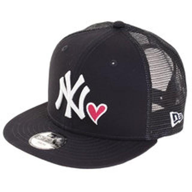 【Super Sports XEBIO & mall店:帽子】ユース 9FIFTY トラッカー ニューヨーク・ヤンキース ウィズ ハート ネイビー×ホワイト キャップ 11900980