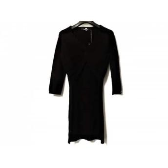 【中古】 エリザベッタフランキ ELISABETTA FRANCHI ワンピース サイズ42 L レディース 美品 黒 ニット