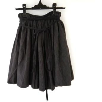 【中古】 リミフゥ LIMI feu 巻きスカート サイズS レディース 黒 グレー