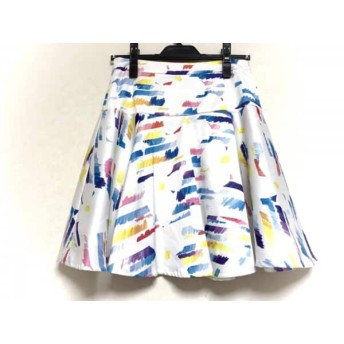 【中古】 チェスティ Chesty スカート サイズ1 S レディース 美品 白 マルチ