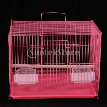 バードケージ オウム インコ 鳥 かご スタンドスティック付き 実用的 簡単清掃 ランダムカラー