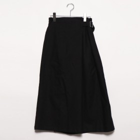 スタイルブロック STYLEBLOCK 綿プリペラサイドベルトスカート (ブラック)