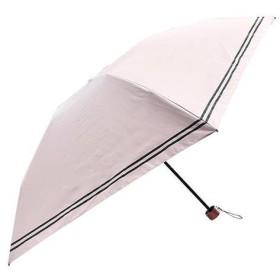 軽量遮光遮熱 晴雨兼用 折りたたみ傘 リブボーダー ピンク