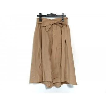 【中古】 ナラカミーチェ NARACAMICIE スカート サイズ1 S レディース ベージュ