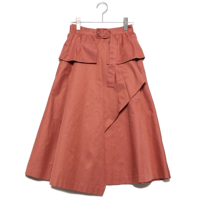 リリーブラウン Lily Brown ベルト付きトレンチスカート (オレンジ)