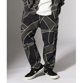 JOURNAL STANDARD Line camo sarouel パンツ ブラック A M