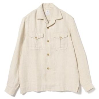 DANOLIS / リネン オープンカラーシャツ メンズ ブルゾン BEIGE/484 L