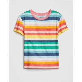 Gap ストライプ ポケットTシャツ(キッズ)