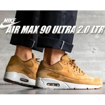 【ナイキ エアマックス 90 ウルトラ 2.0】NIKE AIR MAX 90 ULTRA 2.0 LTR wheat/wheat-light bone ウルトラ レザー メンズ スニーカー ウィート