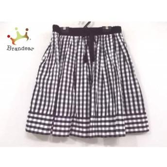 ドレステリア DRESSTERIOR スカート レディース 美品 白×黒 チェック柄 スペシャル特価 20190802