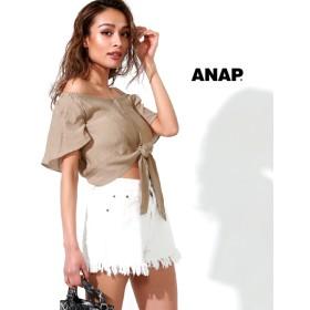 【セール開催中】ANAP(アナップ)前ボタンオフショルトップス