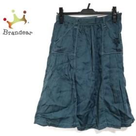 アントゲージ antgauge スカート サイズM レディース 美品 ダークグリーン ダメージ加工/刺繍     スペシャル特価 20190731
