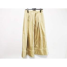 【中古】 ヒロコビス HIROKO BIS ロングスカート サイズ11 M レディース ベージュ