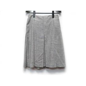 【中古】 アニエスベー agnes b スカート サイズ36 S レディース アイボリー 黒 プリーツ