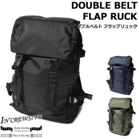 IN CREWSIVE インクルーシブ バッグパック ダブルベルト フラップリュック メンズ レディース 鞄