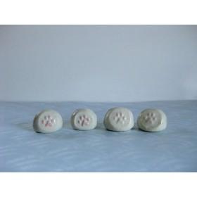 美土露(C) 猫 犬 ピンク 肉球 4個 写真立て メッセージカード立て プライススタンド 陶器