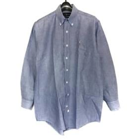 【中古】 ラルフローレン RalphLauren 長袖シャツ サイズ32 XS メンズ ブルー 白