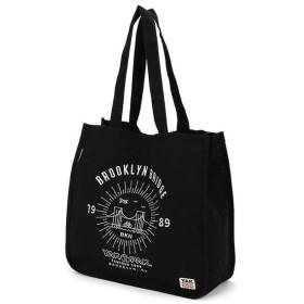 トートバッグ 刺繍ショルダー ブルックリンブリッジ ブラック