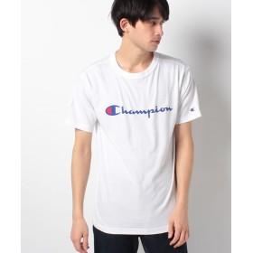 【51%OFF】 ウィゴー WEGO/ChampionロゴプリントTシャツ メンズ ホワイト M 【WEGO】 【タイムセール開催中】