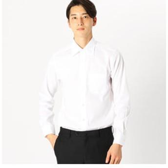 【COMME CA ISM:トップス】《イージーケアー・抗菌防臭加工》ブロード セミワイドカラー 長袖シャツ