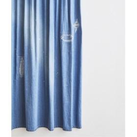 journal standard Furniture ≪予約≫DAMAGE DENIM CURTAIN 94140 ネイビー フリー