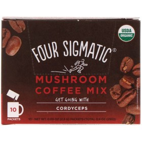 マッシュルーム・コーヒーミックス、10包、各0.09オンス(2.5 g)