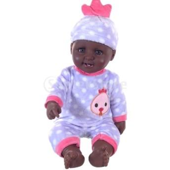 Perfeclan 4色選ぶ 新生児人形 ベビードール アフリカ系人形 ビニール製 赤ちゃん人形 - #3