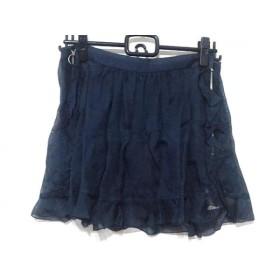 【中古】 トーガ TOGA ミニスカート サイズ0 XS レディース 美品 ネイビー フリル