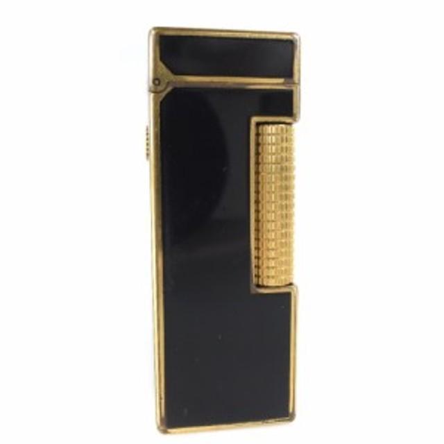 793402d7c1d4 Dunhill ダンヒル ゴールド×ブラック ラッカー 角型 通販 LINEポイント ...