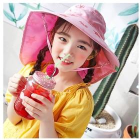 ハット - ZAKZAK 子供 帽子 日よけ UV 紫外線 たれ付きハット 子供 こども キッズ サーフハット ビーチハット マリンハット サンハット UVカット 帽子 海 日よけ つば広 虫よけ サファリ 8Q78S