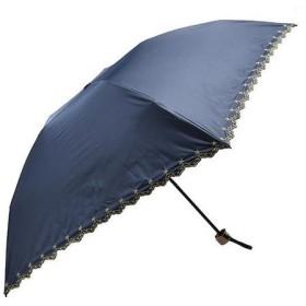 軽量遮光遮熱 晴雨兼用 折りたたみ傘 星柄刺繍 ネイビー
