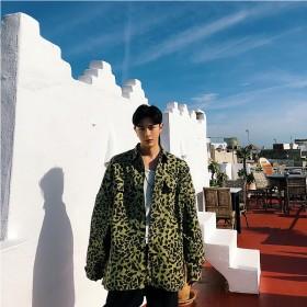 シャツ - BIG BANG FELLAS アニマル柄 デザインシャツ ゆったり モード系 韓流 韓国 ファッション メンズ サロン系 原宿系 韓国系メンズ ボタンダウンカットソー 長袖 メンズ ストリート系 モードストリート K-POP アイドル リゾート