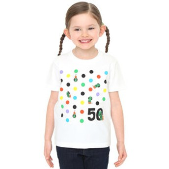 【グラニフ:トップス】キッズTシャツ/50周年カラフルドット(エリックカール)