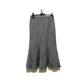 【中古】 レリアン Leilian ロングスカート サイズ11 M レディース 白 黒