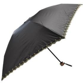 軽量遮光遮熱 晴雨兼用 折りたたみ傘 星柄刺繍 ブラック