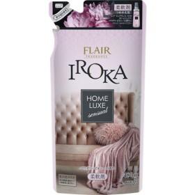 フレア フレグランス IROKA 柔軟剤 ホームリュクス パウダリー ピオニー 詰め替え (480mL)